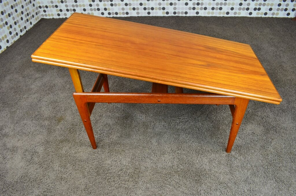 Table basse transformable vintage - Table basse relevable transformable ...