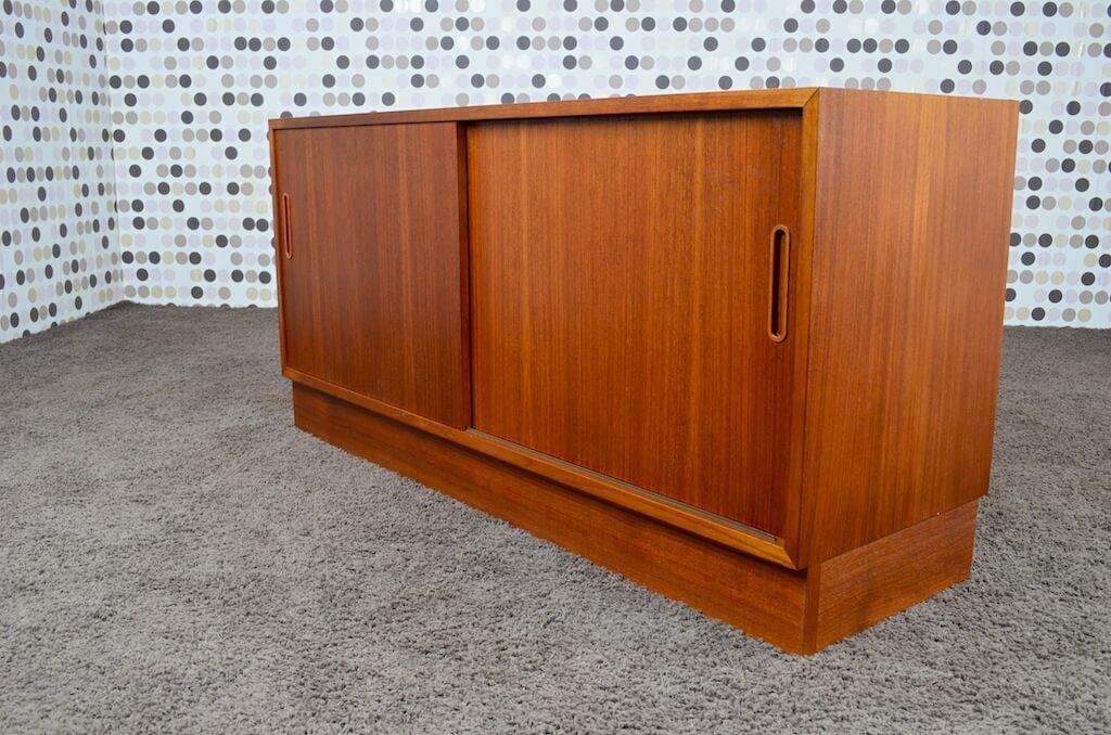 Enfilade meuble lcd danois en teck poul hundevad 1968 for Enfilade meuble