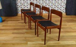 4 Chaises Scandinave en Teck de Grete Jalk Vintage 1961 – 13/0307