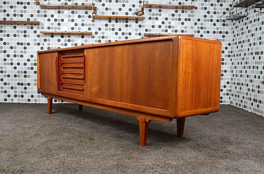 enfilade scandinave en teck vintage 1960 vamo design vintage avenue. Black Bedroom Furniture Sets. Home Design Ideas