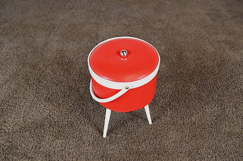 Travailleuse cylindrique pieds compas vintage 1960 - Objet cylindrique 94 ...