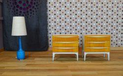 Paire de Chevets Design Vintage Rétro Année 1960 – A1074