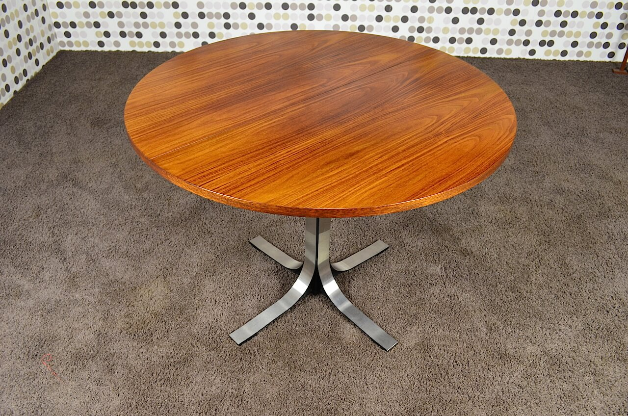 Table transformable design vintage osvaldo borsani 1960 design vintage avenue - Table ronde transformable ...