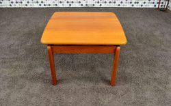 Table Basse Carrée Scandinave en Teck Massif Vintage 1965 - A1166