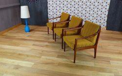 Fauteuil Design Scandinave en Teck Vintage 1965 – A1120-A1121