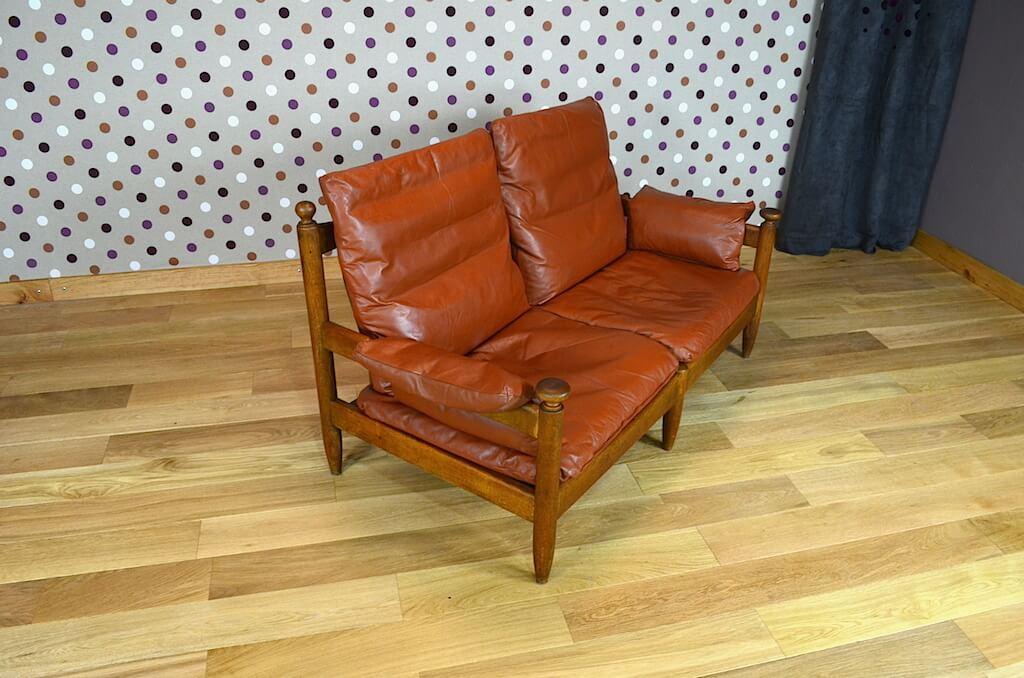 Salon cuir design scandinave banquette 2 fauteuils for Fauteuil banquette design