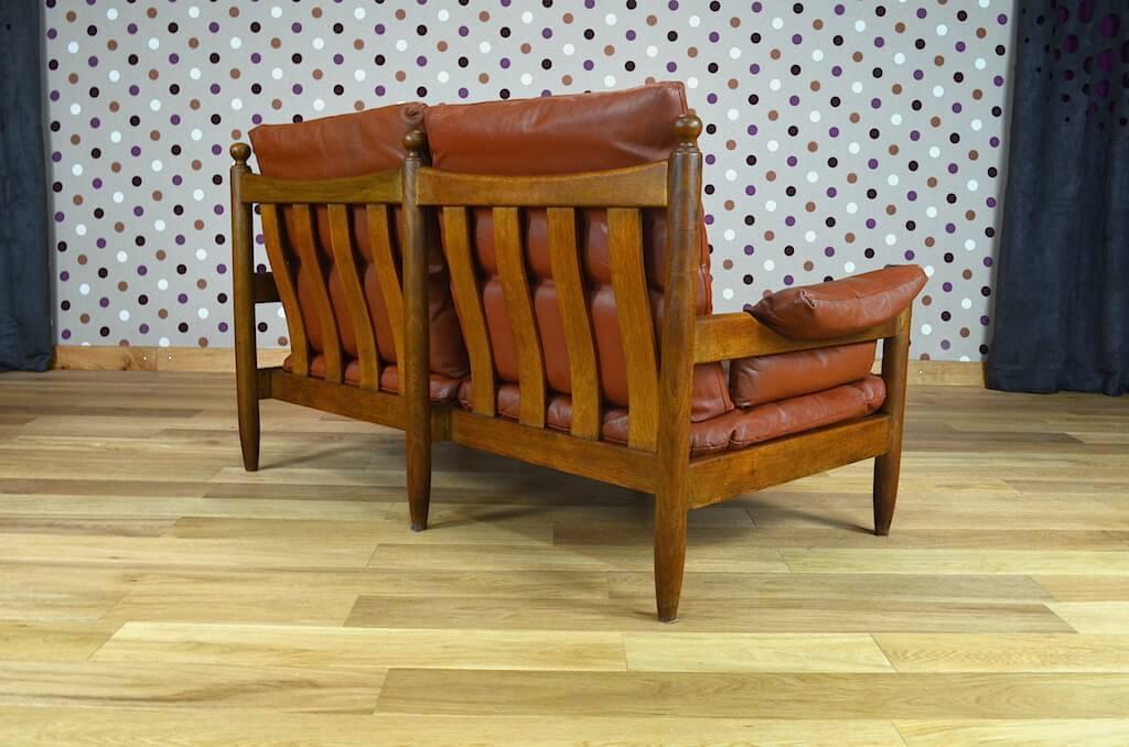 salon cuir design scandinave banquette 2 fauteuils vintage 1960 design vintage avenue. Black Bedroom Furniture Sets. Home Design Ideas