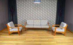 Salon composé d'une Banquette et 2 Fauteuils Vintage 1960 (Refait à Neuf) - A1271+A1272