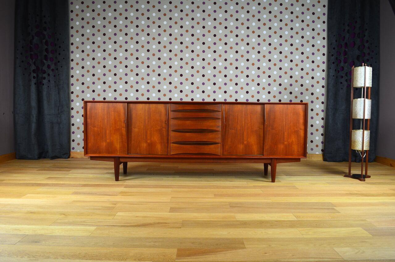 enfilade scandinave en teck arne vodder vintage 1960. Black Bedroom Furniture Sets. Home Design Ideas