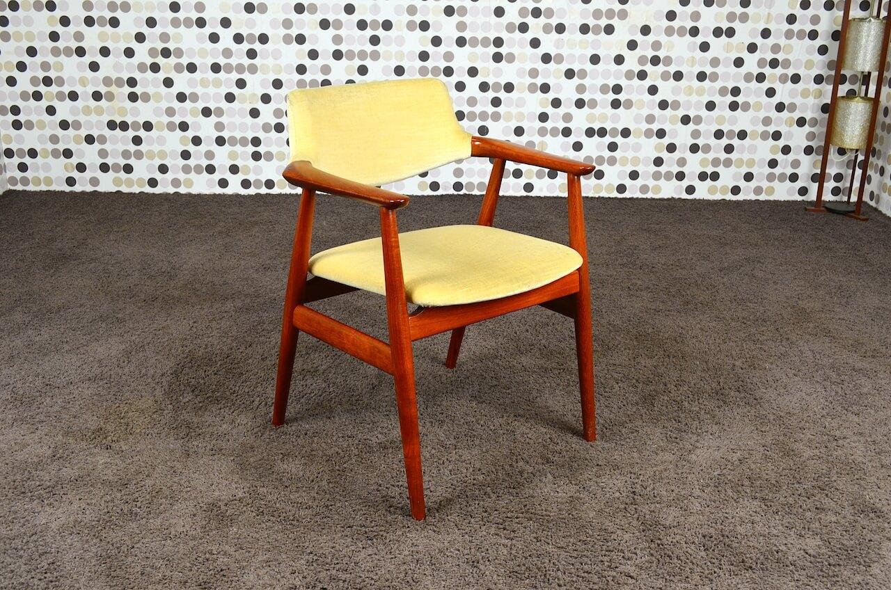 fauteuil scandinave en teck e kirkegaard vintage 1960. Black Bedroom Furniture Sets. Home Design Ideas