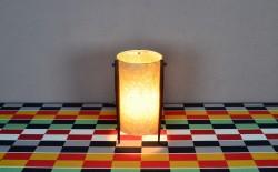 Lampe Tripode Design Scandinave en Teck Vintage 1960 - A1320