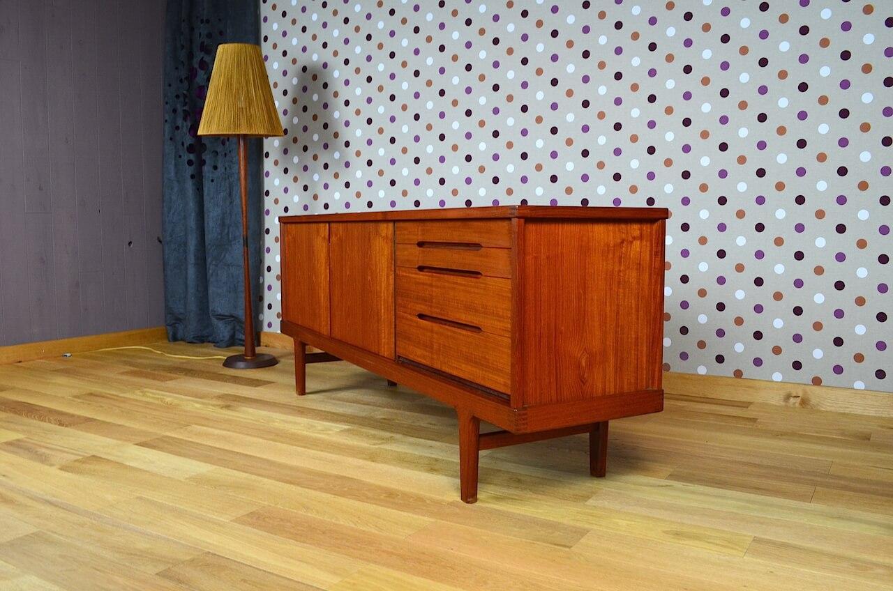 enfilade scandinave en teck de h kjaernulf vintage 1965 design vintage avenue. Black Bedroom Furniture Sets. Home Design Ideas