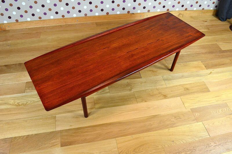 Table basse scandinave en teck vintage 1959 design for Table basse danoise