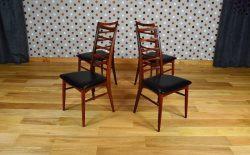 4 Chaises Danoise LIZ en Teck 1965 par Niels Koefoeds - A1297