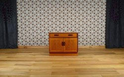 Meuble Bas Design Scandinave en Teck Vintage 1960 - A1342