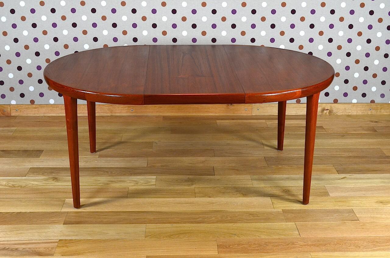 Table ronde design scandinave en teck v v mobler vintage 1968 design vintag - Table ronde design scandinave ...
