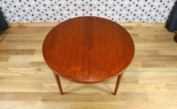 Table Ronde Design Scandinave en Teck V.V.Mobler Vintage 1968 - VENDU