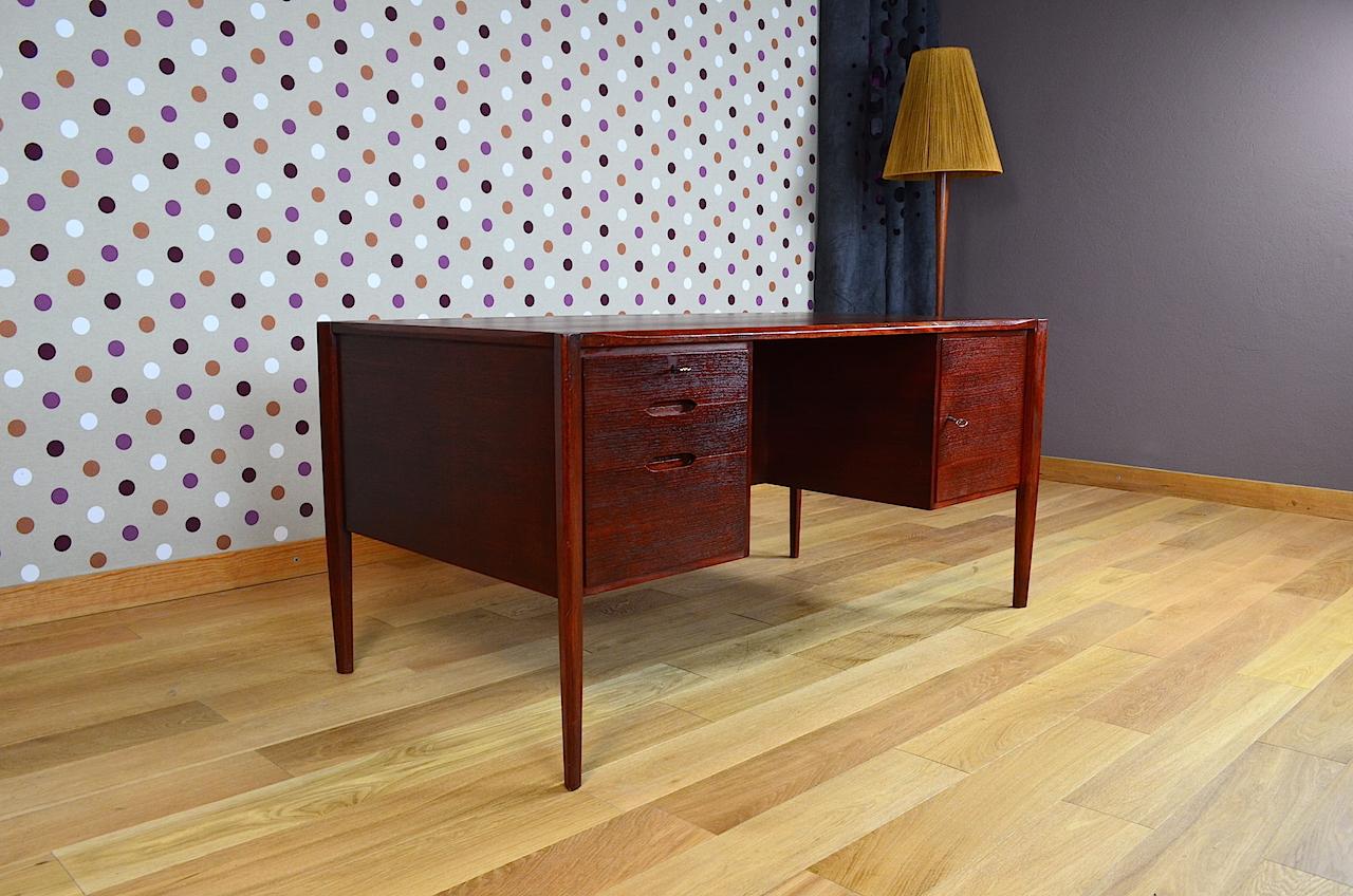 Bureau design scandinave wilhelm renz vintage 1960 for Mobilier bureau scandinave