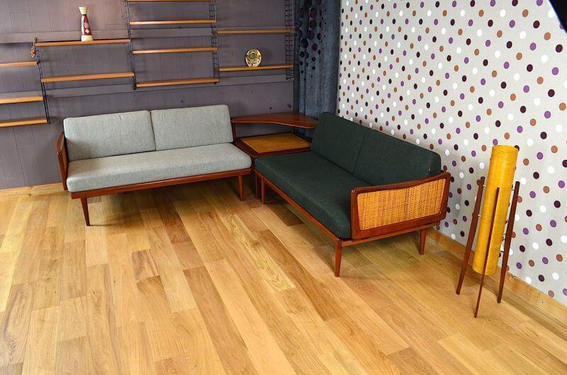 Daybed d'angle & table basse de peter hvidt design danois vintage ...