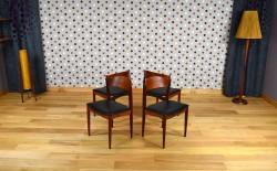 4 Chaises Scandinave en teck Vintage Année 1960 - A1439