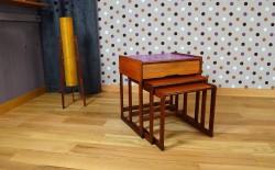 Tables Gigogne Design Scandinave en Teck Vintage 1968 - A1341