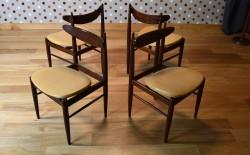 4 Chaises Design Scandinave en Palissandre Vintage 1960 - A1425