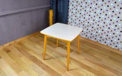Table de Repas Bois Blond & Formica Design Vintage 1960 - A1537