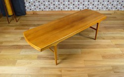 Table Basse Design Scandinave en Bois Blond Vintage 1960 - A1536