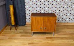 Meuble Bas Design Scandinave Style Teck Vintage 1970 - A1510B