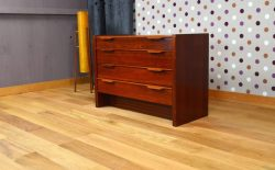 Commode / Coiffeuse Design Scandinave en Acajou Vintage 1960 - A1525