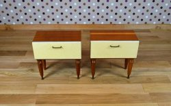 Paire de Chevets Design Rétro Vintage Année 1960 - A1508