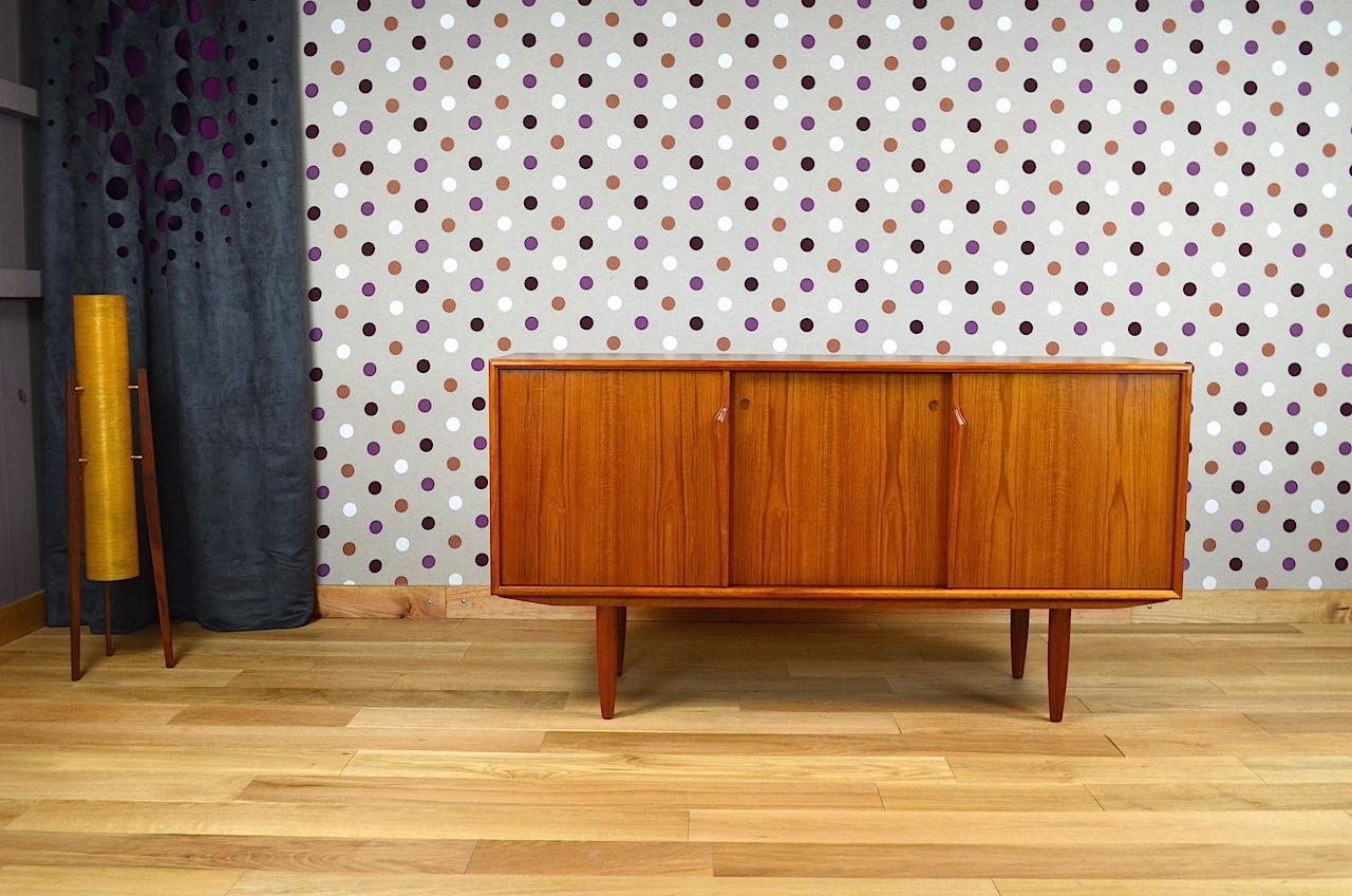 Enfilade design scandinave en teck gunni omann vintage 1960 designvintageav - Boutique design scandinave meubles ...