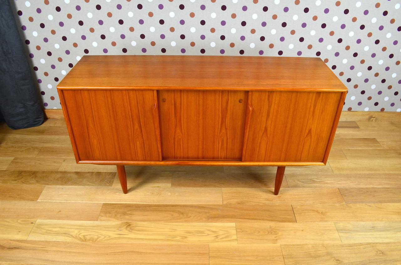 enfilade design scandinave en teck gunni omann vintage 1960. Black Bedroom Furniture Sets. Home Design Ideas