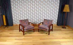 Paire de Fauteuils Design Scandinave en Teck Vintage 1965 - A1611