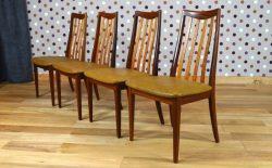 4 Chaises Design Scandinave en teck Vintage  G Plan 1960 - A1468