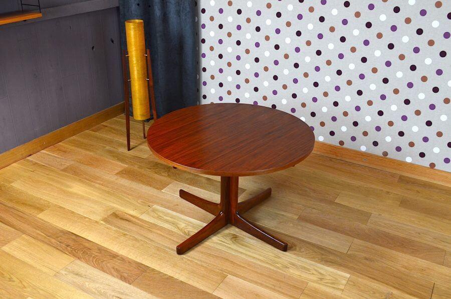 Table basse ronde design scandinave en teck vintage 1960 design vintage avenue - Table ronde design scandinave ...