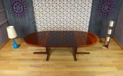 Table Ovale Danoise en Palissandre de Rio Vintage 1960 par John Mortensen - VENDU