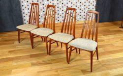 4 Chaises Danoise en Teck Niels Koefoeds Vintage 1965 – A1152