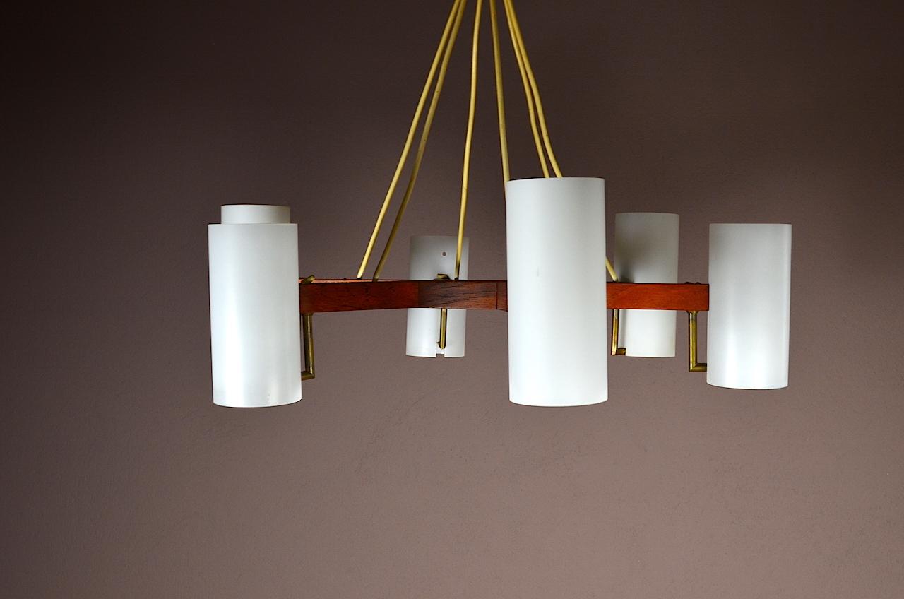 lustre design scandinave en teck verre vintage ann e. Black Bedroom Furniture Sets. Home Design Ideas