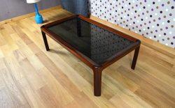 Table Design Scandinave Bois et Verre Vintage 1969 - A1485