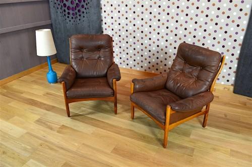 Paire De Fauteuils Design Scandinave En Teck Vintage 1965 Designvintage Avenue Ebay