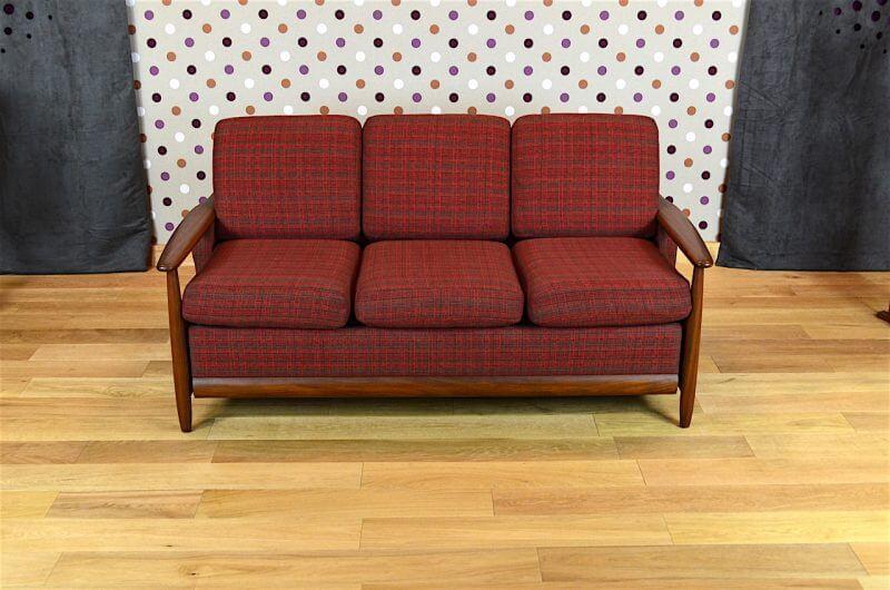 banquette convertible design scandinave en teck vintage 1960 design vintage avenue. Black Bedroom Furniture Sets. Home Design Ideas
