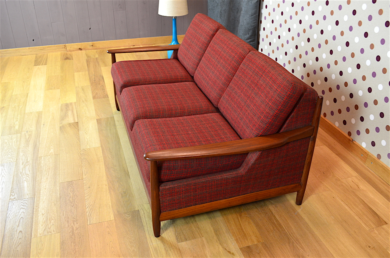 banquette convertible design scandinave en teck vintage. Black Bedroom Furniture Sets. Home Design Ideas