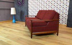 Banquette Convertible Design Scandinave en Teck Vintage 1960 - A1789