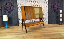 Meuble Design Scandinave Moderniste Louis Paolozzi Vintage 1955 - A1675