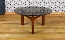 Table Basse Ronde Design Scandinave Vintage 1965 - A1816