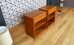 Meuble Bas Design Scandinave en Teck Vintage 1960 - A1817 - A1818