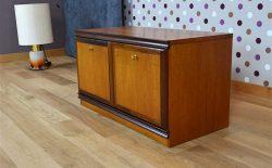 Meuble Bas 2 Portes Design Scandinave Vintage 1968 - A1879