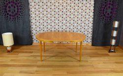 Table Ronde Design Scandinave en Chêne Blond Farstrup Vintage 1960 - A1909