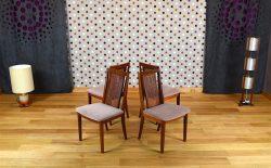 4 Chaises Design Scandinave en Teck Vintage 1960 - A1977A